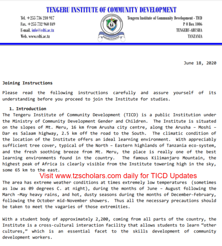 TICD Joining Instruction